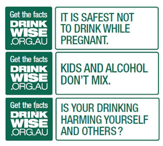 Get The Facts Drink Wise Alcohol Label