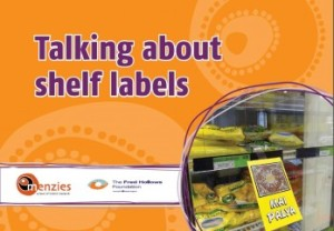 Talking about shelf labels