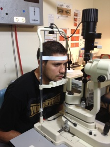 Paddy_Ryder getting his eyes tested1