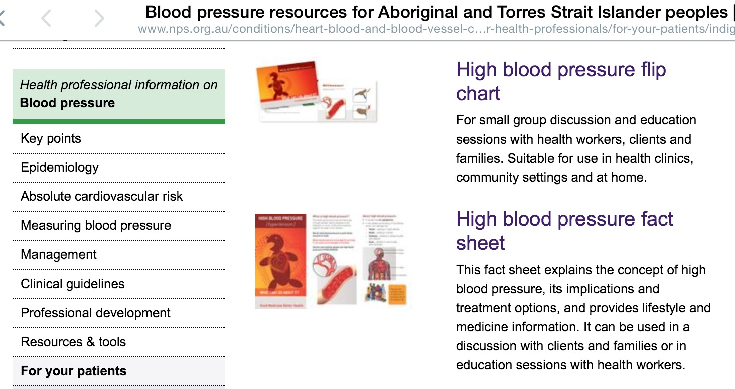 Naccho Health News New Blood Pressure Resources For Aboriginal