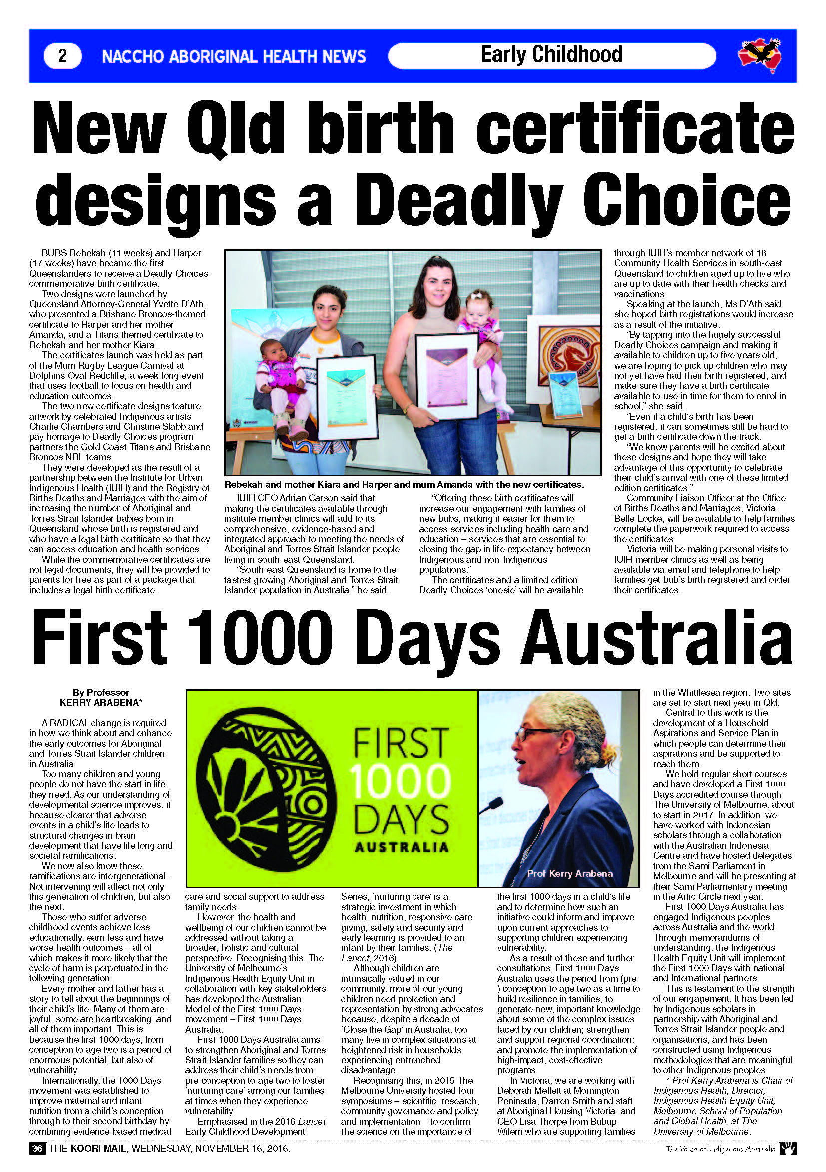Naccho aboriginal health and early childhood what works part 5 new birth certificate designs a deadly choice aiddatafo Choice Image