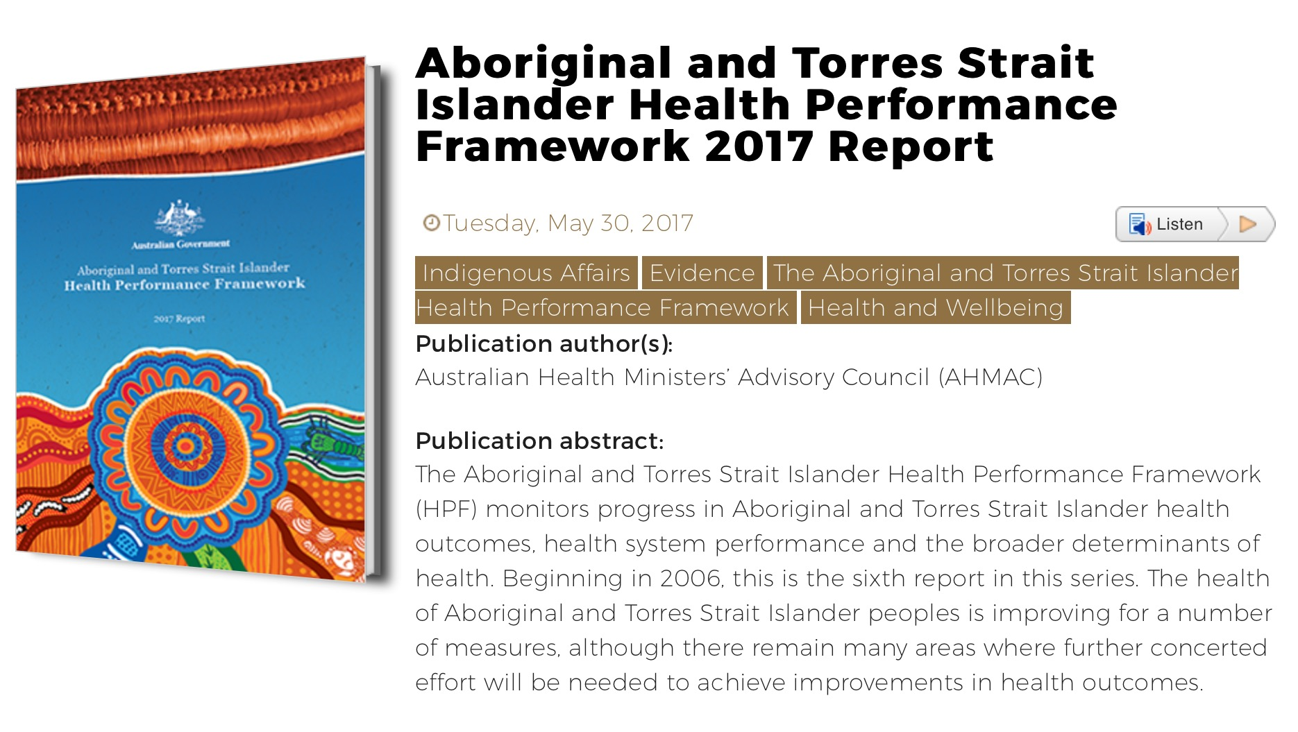 health of indigenous peoples This publication sets out to examine the major challenges for indigenous peoples  to obtain adequate access to and utilization of quality health care services.