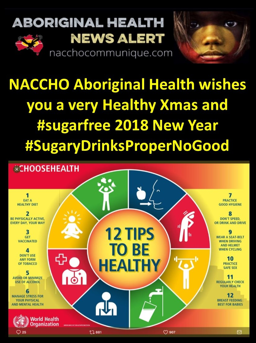 naccho aboriginal choosehealth wishes you a very healthy xmas and sugarfree 2018 new year sugarydrinkspropernogood