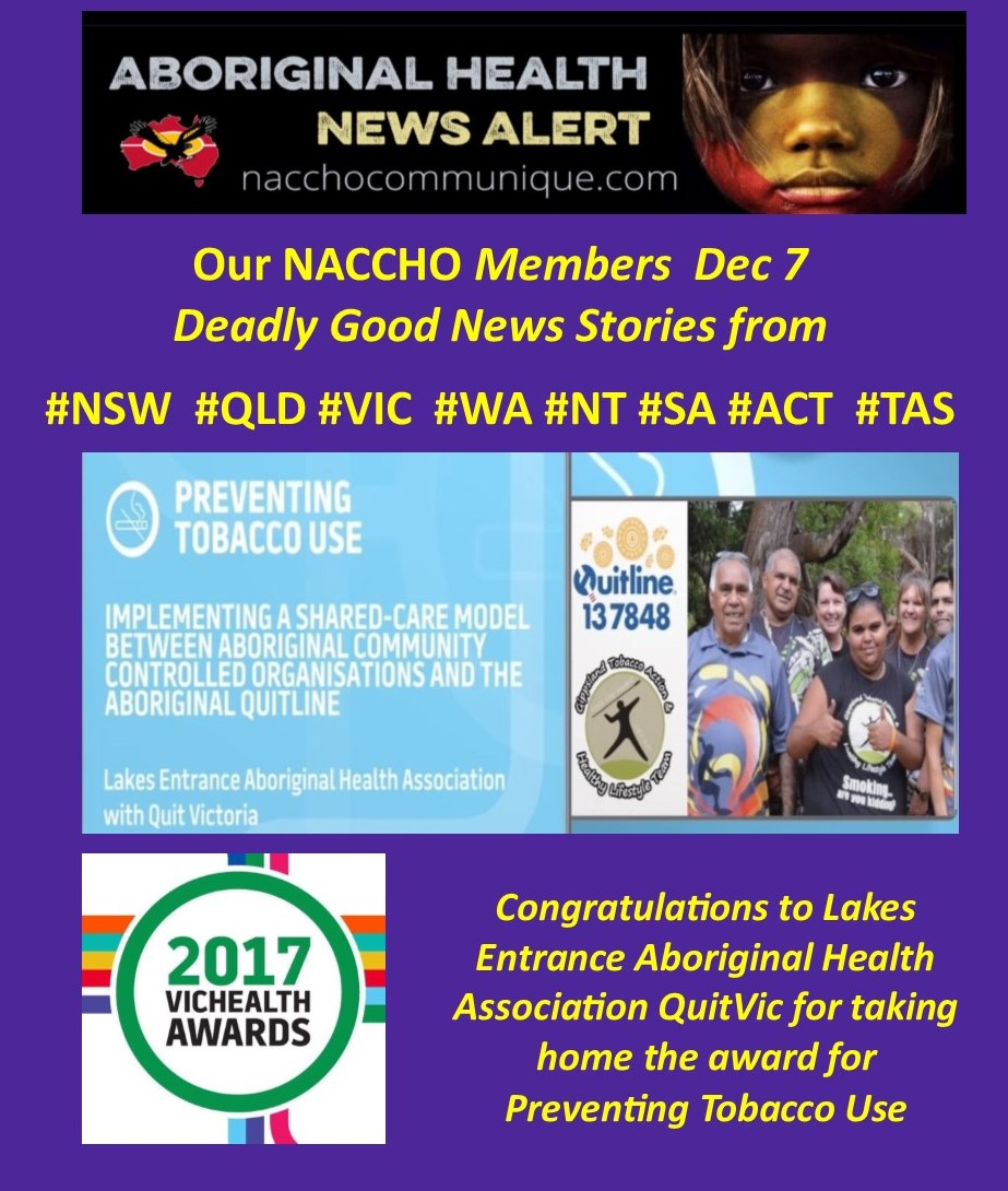 Good News About Mental Health In Our >> Aboriginal Health News Our Naccho Members Deadly Good News
