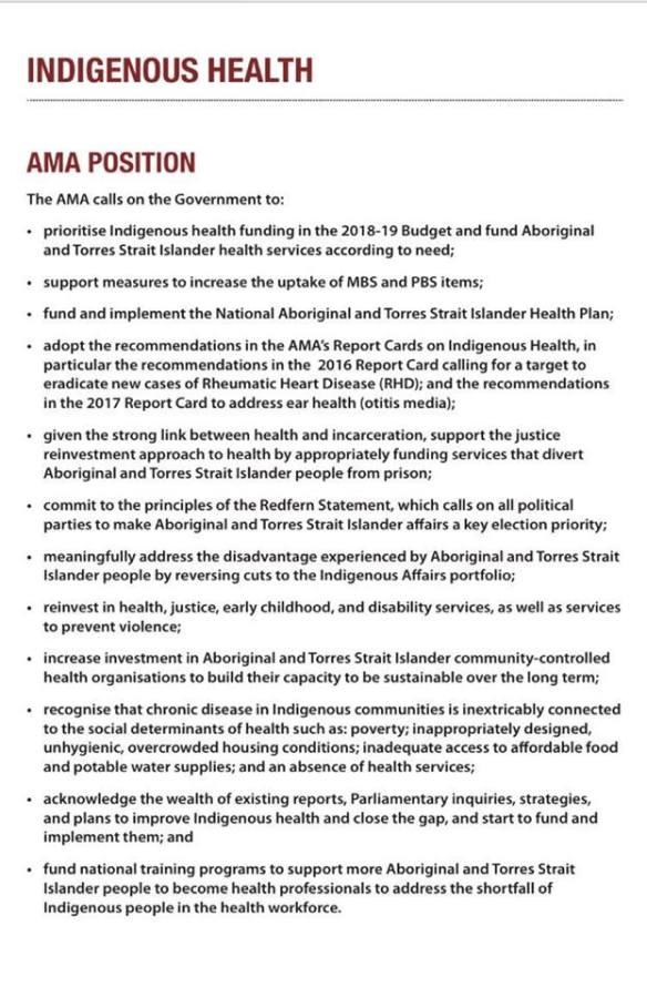 NACCHO Guide to Aboriginal Health and the #Budget2018NACCHO