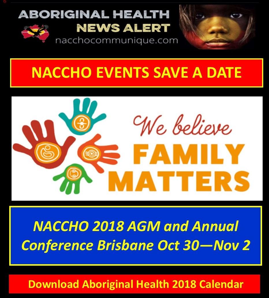 NACCHO Aboriginal Health 2018 Events #SaveaDate : This week