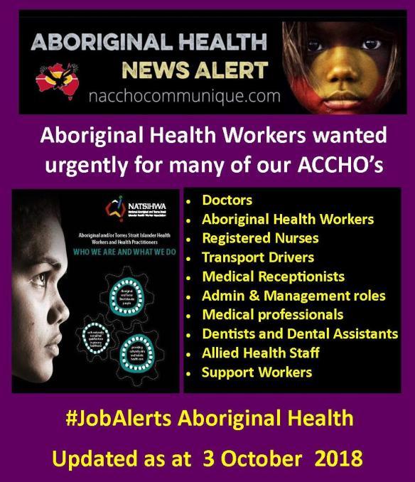Job Vacancies at NACCHO | NACCHO Aboriginal Health News Alerts