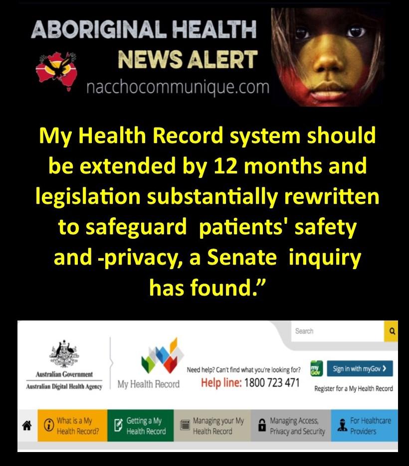 NACCHO Aboriginal Health and #MyHealthRecord : Download the Senate