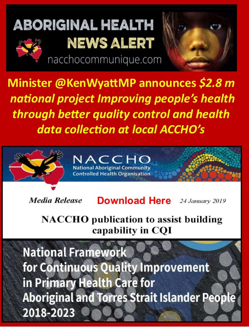 3cc4443672370 NACCHO Aboriginal Health and Continuous Quality Improvement (CQI): Minister  @KenWyattMP announces $2.8 million national project improving people's  health ...