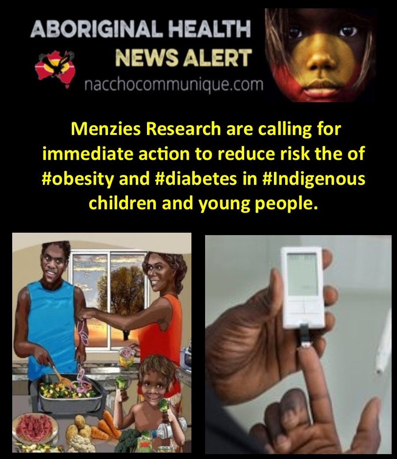 NACCHO Aboriginal Health #Obesity #Diabetes News: 1. @senbmckenzie report #ObesitySummit19 and 2. @MenziesResearch are calling for immediate action to reduce risk the of #obesity and #diabetes in #Indigenous children and young people.