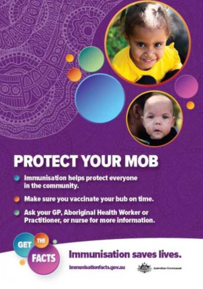 NACCHO #VoteACCHO Aboriginal Health and Immunisation : It's World #ImmunisationWeek 24- 30 April . Here are the facts how #vaccination protects you and our mob. #ProtectedTogether #VaccinesWork