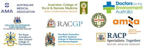 Australian peak medical bodies, 10 in total