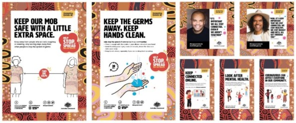 7 Keep Our Mob Safe resource images e.g. posters