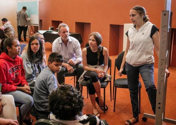 group of Aboriginal youth in Kalgoorlie-Boulder - Guthoo Youth Summit