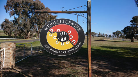 Weigelli Centre Aboriginal Corporation metal sign
