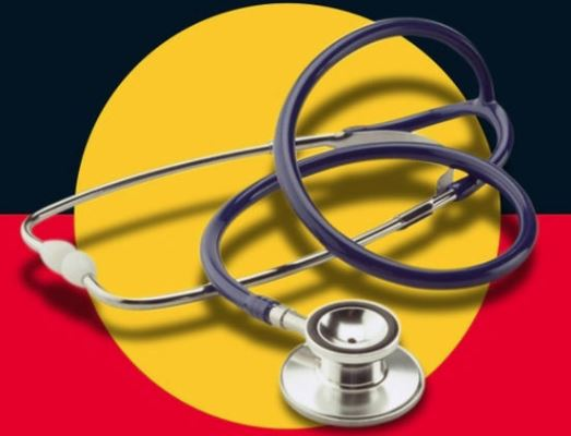 Aboriginal flat with stethoscope sitting on top