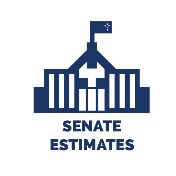 senate estimates logo vector image parliament house