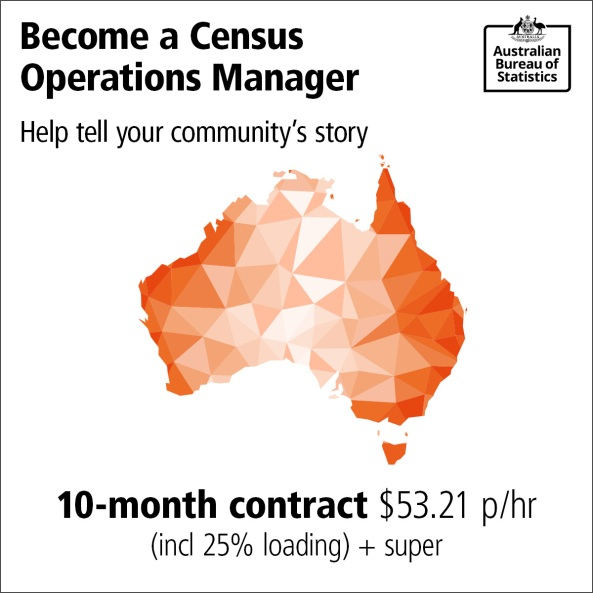 become an ABC Census Operations Manager Help tell your community's story 10-month contract $53.21 phr