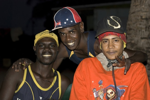 three young Aboriginal men at Galiwinku, Elcho Island, NT, 2008