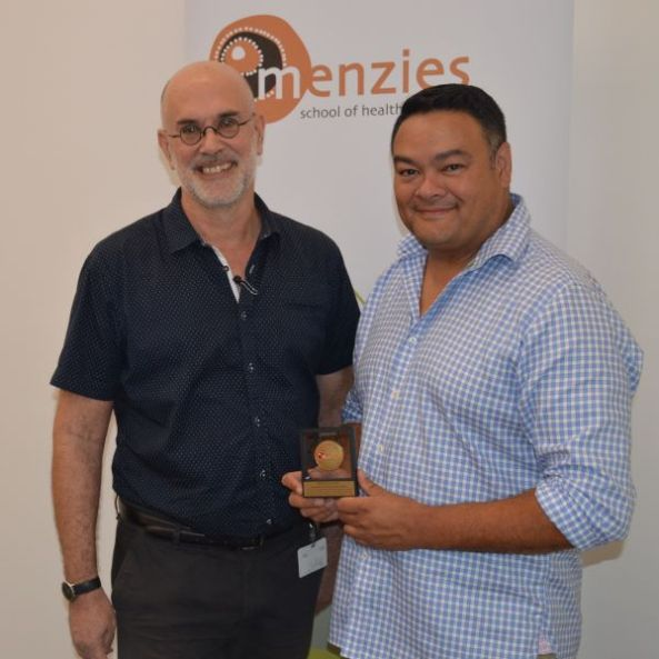 Professor Kelvin Kong receiving Menzies Medallion