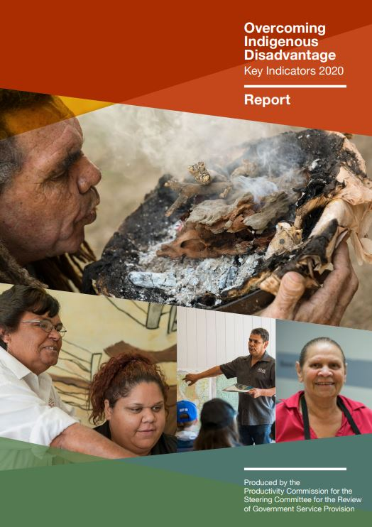 front cover of the Overcoming Indigenous Disadvantage Key Indicators 2020 report