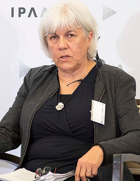 image of Dr Jill Guthrie during a panel discussion
