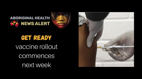 feature tile - get ready vaccine rollout commences next week, image of gloved hand administering vaccine