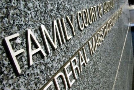 lettering on marble outside Family Court of Australia